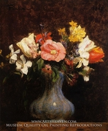 Flowers: Camelias and Tulips by Henri Fantin-Latour
