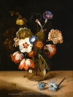 Flowers in a Glass Vase painting reproduction, Dirck De Bray