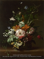 Flowers in a Vase by Rachel Ruysch