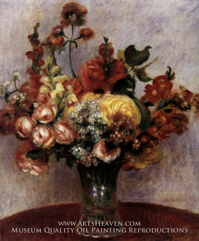 Famous Paintings of Flowers Flowers in a Vase Painting