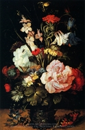 Flowers in a Vase painting reproduction, Roelandt Jacobsz Savery