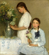 Flowers of the Field painting reproduction, Francis Luis Mora