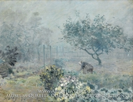 Foggy Morning, Voisins painting reproduction, Alfred Sisley