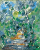 Forest Scene painting reproduction, Paul Cezanne