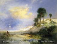 Fort George Island, Florida by Thomas Moran