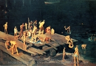 Forty-Two Kids painting reproduction, George Bellows
