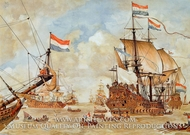 Four Days Battle painting reproduction, Johan Herman Isings