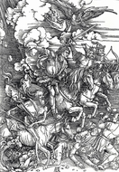 Four Horsemen of the Apocalypse painting reproduction, Albrecht Durer