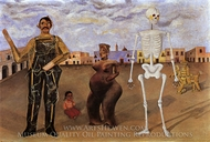 Four Inhabitants of Mexico painting reproduction, Frida Kahlo