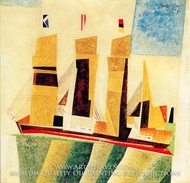Four Masted Barque by Lyonel Feininger
