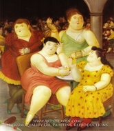 Four Women painting reproduction, Fernando Botero