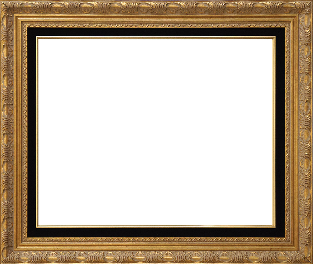 frame ah30047bl ornate gold emboss black velvet liner gold lip oil painting reproduction