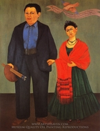 Frida and Diego Rivera painting reproduction, Frida Kahlo