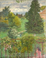 From the Balcony painting reproduction, Pierre Bonnard