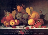 Fruit painting reproduction, Mary Jane Peale