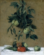 Fruit painting reproduction, Julian Alden Weir