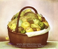 Fruit Basket by Fernando Botero