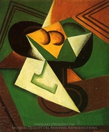 Fruit Bowl and Fruit painting reproduction, Juan Gris