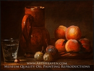 Fruit, Jug, and a Glass by Jean Simeon Chardin