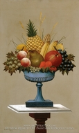 Fruit with Blue-footed Bowl by Charles Sidney Raleigh