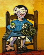 Garcon au Panier painting reproduction, Pablo Picasso (inspired by)