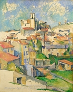 Gardanne painting reproduction, Paul Cezanne