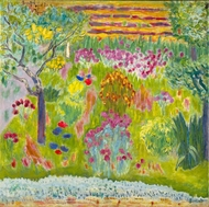 Garden painting reproduction, Pierre Bonnard