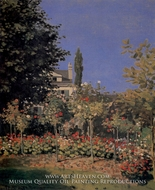 Garden in Flower by Claude Monet