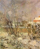 Garden in Snow painting reproduction, Paul Gauguin