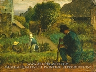 Garden Scene painting reproduction, Jean-Francois Millet