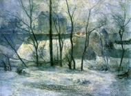Garden under Snow painting reproduction, Paul Gauguin