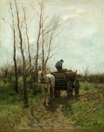 Gathering Wood painting reproduction, Anton Mauve