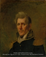 General Andrew Jackson painting reproduction, Samuel Lovett Waldo