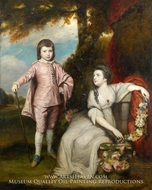 George Capel, Viscount Malden, and Lady Elizabeth Capel by Sir Joshua Reynolds