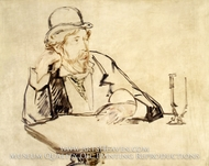 George Moore at the Cafe by Edouard Manet