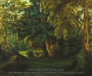 George Sand's Garden at Nohant painting reproduction, Eugene Delacroix