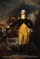 George Washington before the Battle of Trenton painting reproduction, John Trumbull