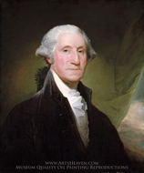 George Washington (The Gibbs-Channing-Avery Portrait) painting reproduction, Gilbert Stuart