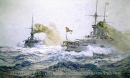 German Fleet Manoeuvres on the High Seas painting reproduction, Carl Saltzmann