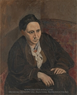 Gertrude Stein painting reproduction, Pablo Picasso (inspired by)