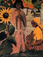 Gipsies with Sunflowers painting reproduction, Otto Mueller