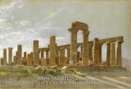 Girgenti (The Temple of Juno Lacinia at Agrigentum) by William Stanley Haseltine