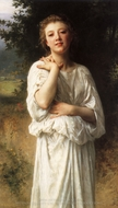 Girl painting reproduction, William Adolphe Bouguereau
