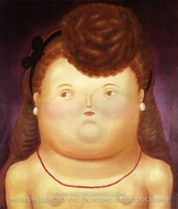 Girl Arc by Fernando Botero