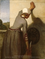 Girl at the Fountain painting reproduction, William Morris Hunt
