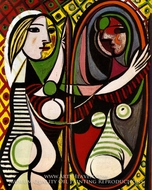 Girl Before a Mirror by Pablo Picasso (inspired by)