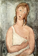 Girl in a White Chemise painting reproduction, Amedeo Modigliani