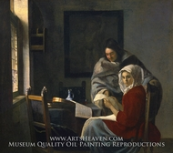 Girl Interrupted at Her Music by Jan Vermeer