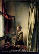 Girl Reading a Letter at an Open Window by Jan Vermeer