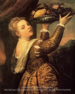 Girl with a Basket of Fruits (Lavinia) painting reproduction, Titian